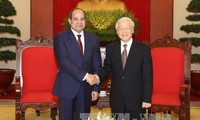 越共中央总书记阮富仲会见埃及总统塞西