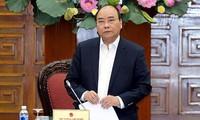 阮春福与老街省和安江省主要领导干部座谈