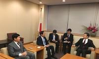 越南外交部副部长裴青山会见日本外务大臣政务官堀井