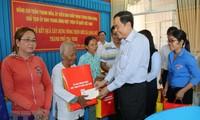 陈清敏探望茶荣省高棉族同胞并致以传统新年祝贺