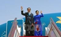 越南国家主席陈大光和夫人对日本进行国事访问