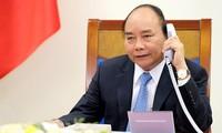 越南政府总理阮春福与丹麦首相拉斯穆森通电话