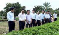 越南政府副总理王庭惠视察奠边省