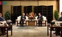 越共中央书记处常务书记陈国旺对中国陕西省进行工作访问