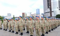 越南维和力量启程参加维和行动