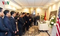 越南驻外代表机构举行原越共中央总书记杜梅吊唁仪式并设置吊唁簿