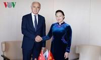 越南国会主席阮氏金银会见土耳其对外经济关系委员会主席纳伊尔
