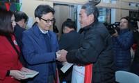 越南政府副总理武德担视察北件省