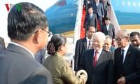 越共中央总书记、国家主席阮富仲开始对柬埔寨进行国事访问