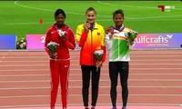 越南选手郭氏兰在亚洲田径锦标赛女子400米栏的比赛中夺得金牌