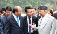 尼泊尔总理圆满结束对越南的正式访问