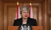 英国首相特雷莎⋅梅辞去保守党领袖一职