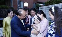阮春福会见旅居日本越南知识分子