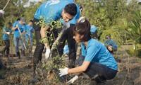 胡志明共青团参加环保 应对气候变化