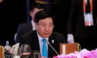 越南政府副总理兼外长范平明共同主持第10届湄公河-恒河合作外长会议
