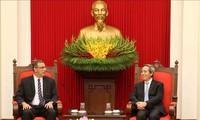 越共中央经济部部长会见IMF和ILO领导人