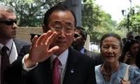 UN-Generalsekretär Ban Ki Moon besucht Myanmar