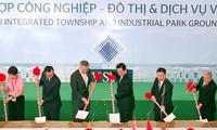 Singapurs Premierminister Lee Hsien Loong beim Spatenstich der Industriezone VSIP in Quang Ngai