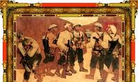 Glanzbild über Parteiaufnahme in Dien Bien Phu