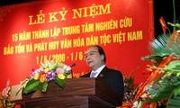 Die vietnamesische Kultur mit Tradition aufbauen
