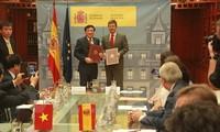 Vietnam und Spanien unterzeichnen Auslieferungsabkommen von Straftätern