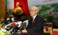 KPV-Generalsekretär Nguyen Phu Trong nimmt am Parteitag der vietnamesischen Volksarmee teil