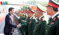 Streitkräfte der Militärzone 1 ist ein Garant für die Souveränität des Landes