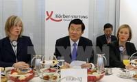Staatspräsident Truong Tan Sang hält Rede im Körber Institut