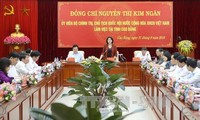 Parlamentspräsidentin Nguyen Thi Kim Ngan besucht Cao Bang