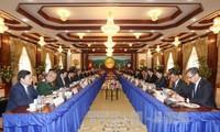 KPV-Generalsekretär Nguyen Phu Trong trifft laotischen Amtskollegen Bounnhang Volachith