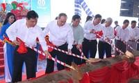 Baustart eines Zentrums zur Zucht von Garnelensetzlingen in Tra Vinh