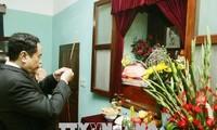 Vorsitzender der vaterländischen Front Vietnams Tran Thanh Man ehrt Ho Chi Minh