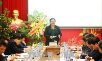 Vizeparlamentspräsidentin Tong Thi Phong besucht vietnamesische Sozialversicherung