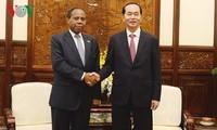 Staatspräsident Tran Dai Quang empfängt scheidenden mosambikanischen Botschafter