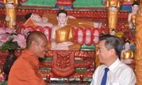 Die Khmer in Soc Trang feiern das Fest Chôl Chnăm Thmây