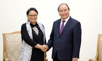 Premierminister Nguyen Xuan Phuc empfängt indonesische Außenministerin