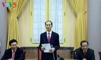 Staatspräsident Tran Dai Quang: für nationales Interesse und nachhaltige Entwicklung