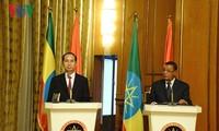 Staatspräsident Tran Dai Quang führt Gespräche mit äthiopischen Präsidenten, Mulatu Teshome
