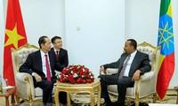 Staatspräsident Tran Dai Quang trifft äthiopischen Premierminister