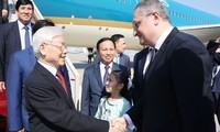 KPV-Generalsekretär Nguyen Phu Trong ist in Moskau eingetroffen