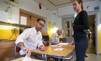 Vorläufigge Wahlergebnisse in Schweden