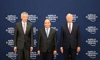 Offizieller Empfang der Spitzenpolitiker und Leiter der Delegation beim WEF ASEAN