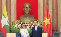Staatspräsident Tran Dai Quang empfängt Beraterin des myanmarischen Staates San Suu Kyi