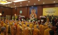 Mönche und Anhänger des Buddhismus in Laos gedenken dem Staatspräsidenten Tran Dai Quang