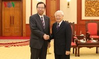 KPV-Generalsekretär, Staatspräsident Nguyen Phu Trong empfängt Delegation der KPJ