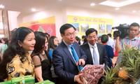 Vizepremierminister Vuong Dinh Hue nimmt am Forum über Produktion von Litschis teil