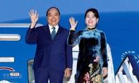 Premierminister Nguyen Xuan Phuc ist in der japanischen Stadt Osaka angekommen