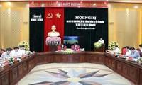 쯔엉티마이 중앙 인민위원장 닌빈 행정 집행위원회 회견