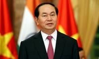 각국 지도자 Tran Dai Quang 국가주석 서거 조전 답지