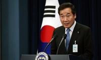 한국총리, 조선 한반도에 평화 희망 강조